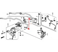 1515, стойка стабилизатора передняя, , 2 299 р., 51320-STK-A01, Honda Motor Co., ПЕРЕДНЯЯ ОСЬ