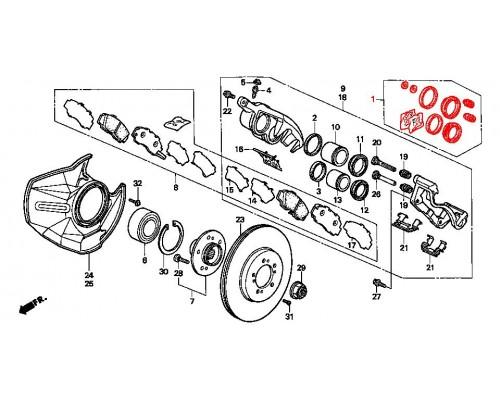 ремонтный комплект переднего суппорта