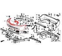 2543, бампер передний под покраску, , 26 200 р., 04711-SEA-G00ZZ, Honda Motor Co., ЖЕЛЕЗО И ВНЕШНИЙ ПЛАСТИК
