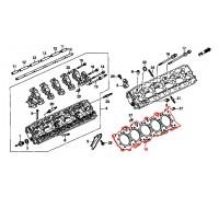 444, прокладка ГБЦ, , 6 999 р., 12251-PV3-004, Honda Motor Co., ПРОКЛАДКИ ДВИГАТЕЛЯ