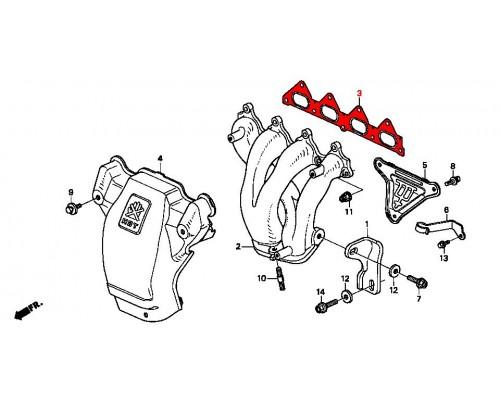 прокладка выпускного коллектора Honda