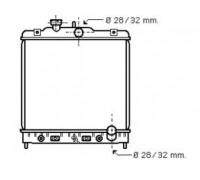 1118, радиатор охлаждения двигателя, , 5 400 р., 19010-P2J-003AVA, AVA, РАДИАТОРЫ