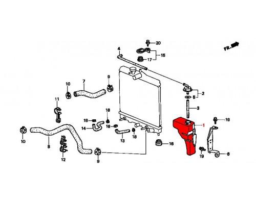 расширительный бачок радиатора