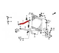 630, верхний патрубок радиатора охлаждения, , 1 650 р., 19501-P08-000, Honda Motor Co., РАДИАТОРЫ