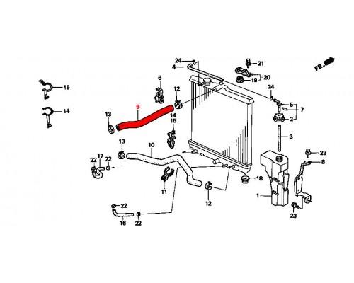 верхний патрубок радиатора охлаждения