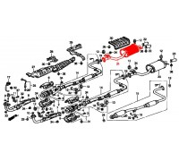 305, глушитель выхлопной системы с 2мя выхл трубами, , 3 350 р., 18030-SM4-9300925, POLMOSTROW, ВЫХЛОПНАЯ СИСТЕМА