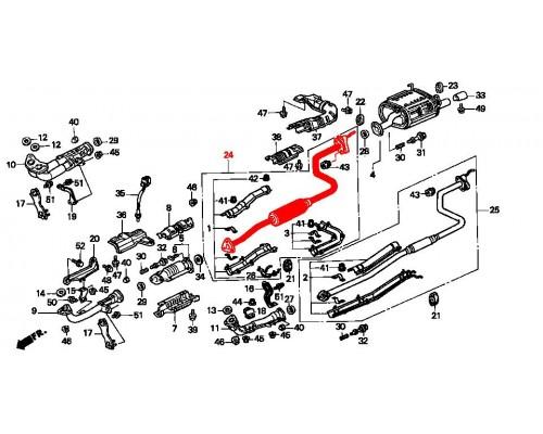 резонатор выхлопной системы для хэтчбека кроме двиг D15Z/В16
