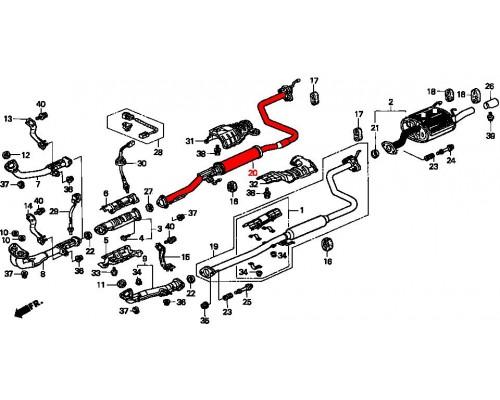 резонатор выхлопной системы для двиг D15