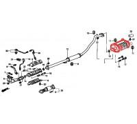 642, глушитель выхлопной системы, , 4 800 р., 18030-S10-A00FER, FERROZ, ВЫХЛОПНАЯ СИСТЕМА