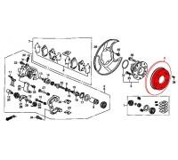 1209, диск тормозной задний, , 2 400 р., 42510-SX0-000NIP, NIPPARTS, ЗАДНЯЯ ОСЬ