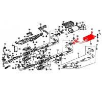 314, глушитель выхлопной системы c 1 выхлопной трубой, , 3 600 р., 18307-SM4-G02, BOSAL, ВЫХЛОПНАЯ СИСТЕМА
