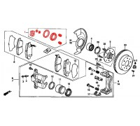 417, ремонтный комплект переднего суппорта, , 690 р., 01463-SAA-900, BUDWEG, ПЕРЕДНЯЯ ОСЬ