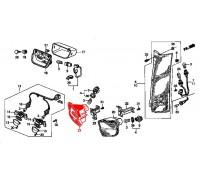 742, фонарь в заднем бампере красный, , 3 990 р., 34401-S10-G01, Honda Motor Co., ОПТИКА
