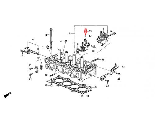 датчик-клапан давления масла системы VTEC
