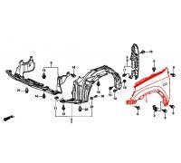 360, крыло переднее правое с отв.под повторитель, , 2 550 р., 60211-S9A-000ZZ, TAY, ЖЕЛЕЗО И ВНЕШНИЙ ПЛАСТИК
