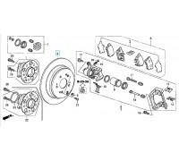 1662, диск тормозной задний, , 2 999 р., 42510-TP6-A00, FIT, ЗАДНЯЯ ОСЬ