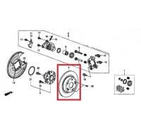 105, диск тормозной задний, , 1 390 р., 42510-TA0-A00, NAKAYAMA, ЗАДНЯЯ ОСЬ