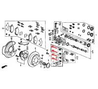 276, направляющие заднего суппорта, , 4 980 р., 43010-SN7-000, Honda Motor Co., ЗАДНЯЯ ОСЬ