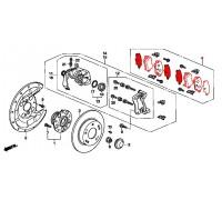 колодки тормозные задние комплект CIVIC 5D