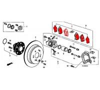 103, колодки тормозные задние комплект, , 1 790 р., 43022-TL0-G50, MINTEX, ЗАДНЯЯ ОСЬ