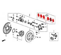 102, колодки тормозные задние комплект, , 4 980 р., 43022-TL1-G01, Honda Motor Co., ЗАДНЯЯ ОСЬ