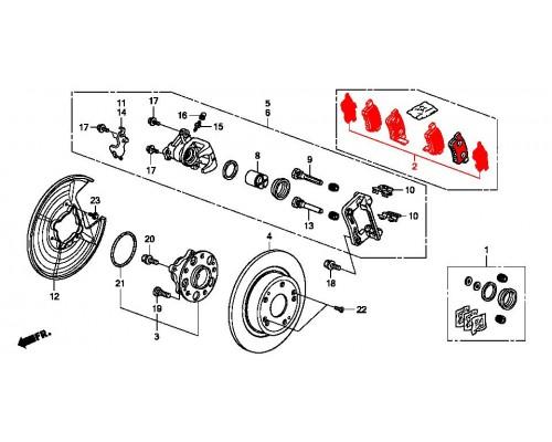 колодки тормозные задние комплект