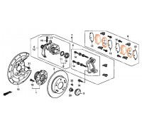1984, колодки тормозные задние комплект CIVIC 5D, , 1 980 р., 43022-SMG-E01120602, REMSA, ЗАДНЯЯ ОСЬ