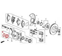 1801, ремонтный комплект переднего суппорта, , 390 р., 45006-SEA-E01, SAT, ПЕРЕДНЯЯ ОСЬ