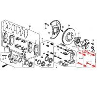166, комплект направляющих переднего суппорта, , 5 970 р., 45010-SN7-G41, Honda Motor Co., ПЕРЕДНЯЯ ОСЬ