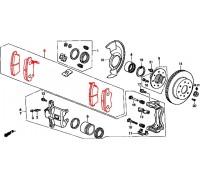 1256, колодки тормозные передние комплект, , 1 650 р., 45022-S04-V02JNB, JNBK, ПЕРЕДНЯЯ ОСЬ