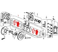 302, колодки тормозные передние комплект, , 900 р., 45022-ST3-E01JD, JUST DRIVE, ПЕРЕДНЯЯ ОСЬ