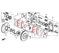 1885, колодки тормозные передние комплект, , 2 970 р., 45022-S9A-405TRW, TRW/LUCAS, ПЕРЕДНЯЯ ОСЬ