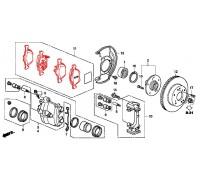 185, колодки тормозные передние комплект, , 1 050 р., 45022-SEA-E01, ASIMCO, ПЕРЕДНЯЯ ОСЬ