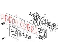 300, колодки тормозные передние комплект, , 1 980 р., 45022-SM4-A00REM, REMSA, ПЕРЕДНЯЯ ОСЬ