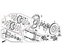 колодки тормозные передние комплект CIVIC 5D