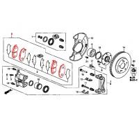 293, колодки тормозные передние комплект, , 4 980 р., 45022-TR0-E02, Honda Motor Co., ПЕРЕДНЯЯ ОСЬ