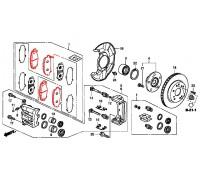 100, колодки тормозные передние комплект, , 7 680 р., 45022-TL0-G51, Honda Motor Co., ПЕРЕДНЯЯ ОСЬ