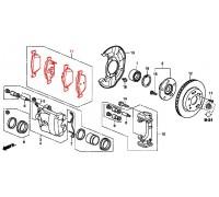 99, колодки тормозные передние комплект, , 7 500 р., 45022-TL1-G00, Honda Motor Co., ПЕРЕДНЯЯ ОСЬ