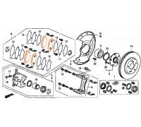 186, колодки тормозные передние комплект CIVIC 5D, , 1 075 р., 45022-SMG-E01, KONSTEIN, ПЕРЕДНЯЯ ОСЬ