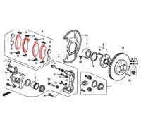 190, колодки тормозные передние комплект CRV, , 7 500 р., 45022-SWW-G01, Honda Motor Co., ПЕРЕДНЯЯ ОСЬ