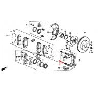 191, направляющая переднего суппорта, , 780 р., 45235-SL0-003, Honda Motor Co., ПЕРЕДНЯЯ ОСЬ