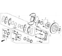 97, диск тормозной передний, , 6 990 р., 45251-TL1-G00, Honda Motor Co., ПЕРЕДНЯЯ ОСЬ