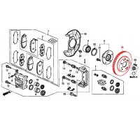 98, диск тормозной передний, , 8 250 р., 45251-TL0-G50, Honda Motor Co., ПЕРЕДНЯЯ ОСЬ