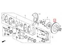 206, диск тормозной передний, , 2 790 р., 45251-SMG-E31, SAT, ПЕРЕДНЯЯ ОСЬ