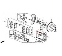 210, направляющая переднего суппорта, , 870 р., 45262-SL0-003, Honda Motor Co., ПЕРЕДНЯЯ ОСЬ