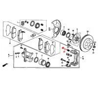 211, направляющая суппорта, , 690 р., 45262-SR3-003, Honda Motor Co., ПЕРЕДНЯЯ ОСЬ