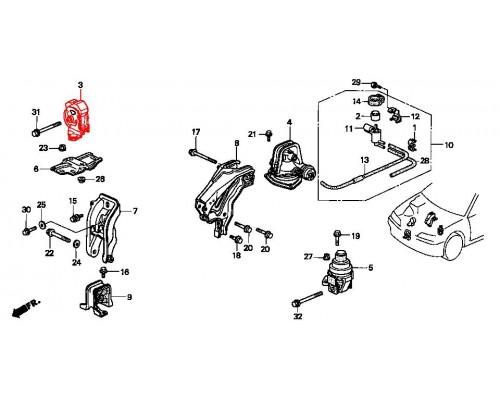подушка двигателя передняя правая