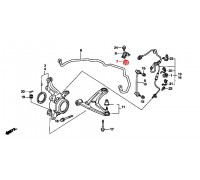27, втулка переднего стабилизатора подвесная, , 300 р., 51306-SAB-003, RBI, ПЕРЕДНЯЯ ОСЬ