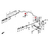 56, втулка переднего стабилизатора подвесная, , 150 р., 51306-SV4-000, SAT, ВТУЛКИ И САЙЛЕНТБЛОКИ