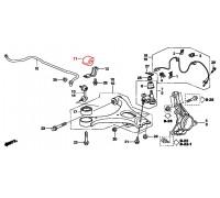 29, втулка переднего стабилизатора подвесная, , 290 р., 51306-SNA-A02, Honda Motor Co., ПЕРЕДНЯЯ ОСЬ
